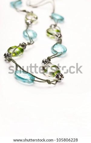 summer beads - stock photo