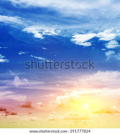 Summer beauty. Natural landscape art - stock photo