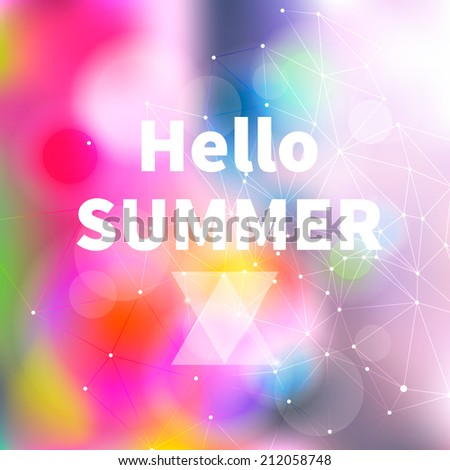 Summer Bright Abstract Blurry Background, illustration - stock photo