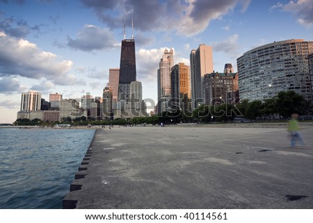 Summer by Gold Coast in Chicago, IL. - stock photo
