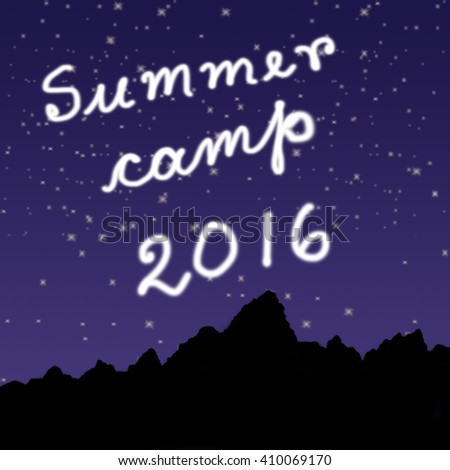 Summer Camp 2016 Concept - stock photo