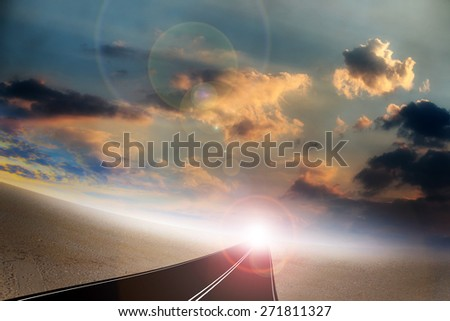 Summer day and road as abstract background
