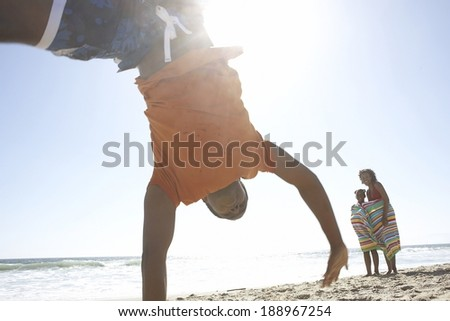 Summer day at the beach - stock photo