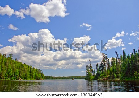 Summer Day on Rib Lake in the Boundary Waters