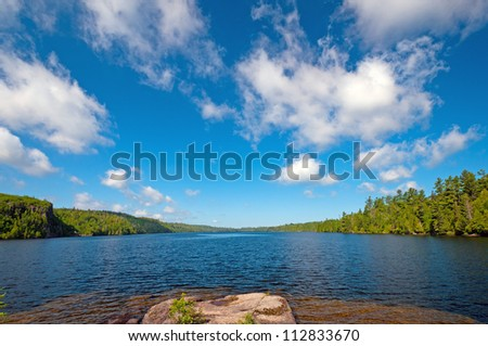 Summer Day on Winchell Lake in the Boundary Waters - stock photo