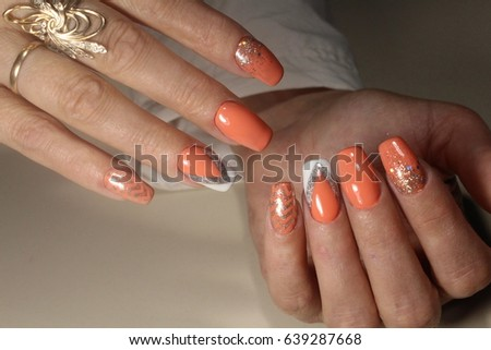 Summer design of nails. Youth manicure