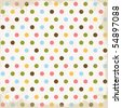Summer Dots Background - stock photo
