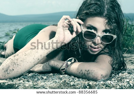 Summer fashion - stock photo