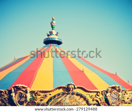 Summer ferris wheel  - stock photo