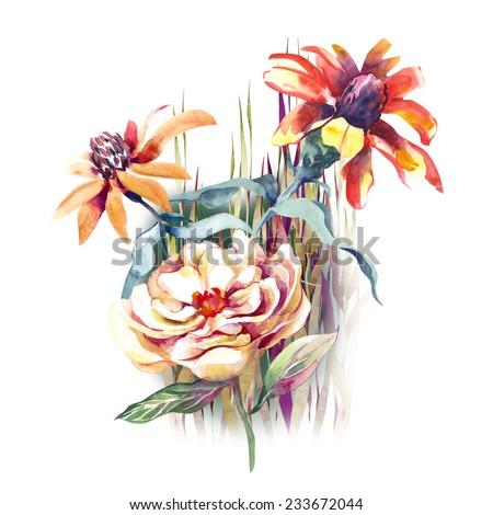 Summer Flowers  - stock photo