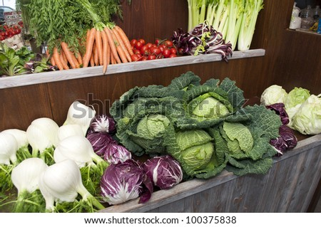 summer fruit-vegetables-vegetables shop - stock photo
