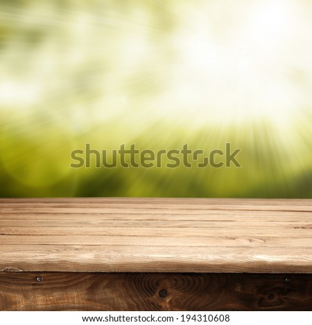 summer garden with sunlight and free space for you  - stock photo