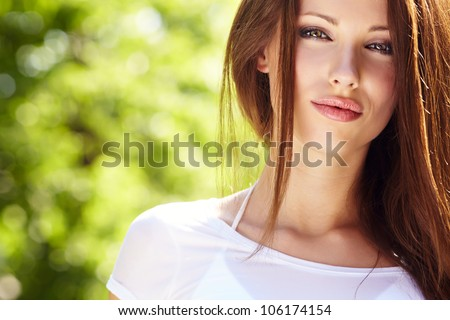 Summer girl portrait - stock photo