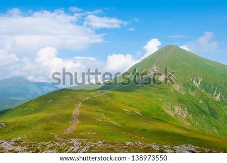 summer goverla mount - stock photo
