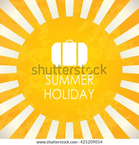 Summer holiday, abstract background - stock photo