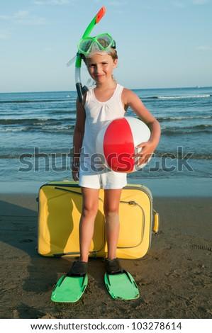 Summer holiday - travel destination, beach resort - stock photo