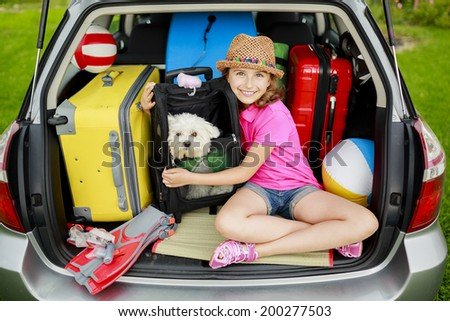Summer holiday, Travel - family ready for the travel for summer vacation