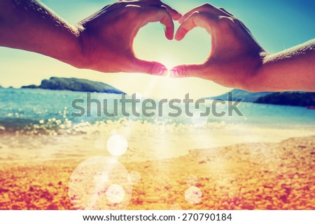 Summer holidays background/ sea background - stock photo