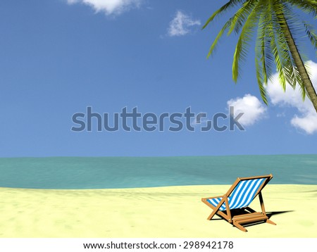 Summer Holidays on the beach - 3d render