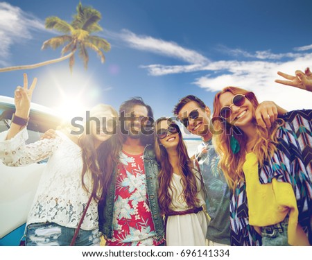 Summer Holidays Road Trip Travel And People Concept