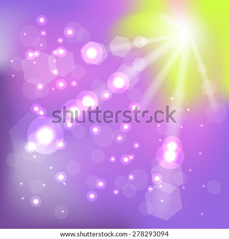 Summer Hot Sun Background for Your Design