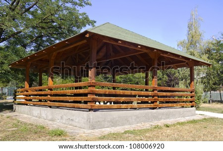 summer house in park - stock photo