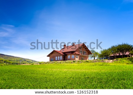 Summer house in the mountains - stock photo