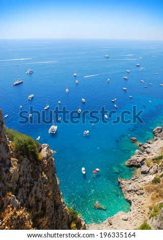 Summer in Capri island, Italy - stock photo