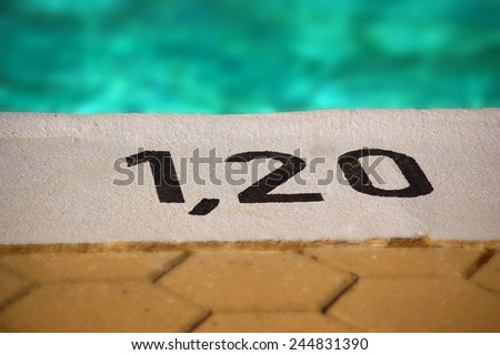 Summer in the city swimming pool composition   - stock photo