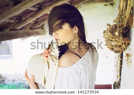 Summer in the village - stock photo