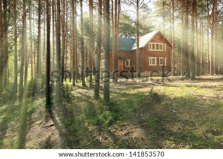 Summer in the village house - stock photo