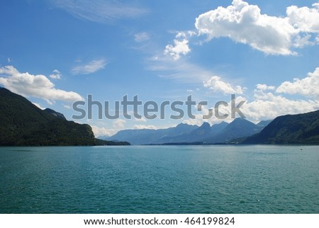 Summer Landscape Across Austrian Lake