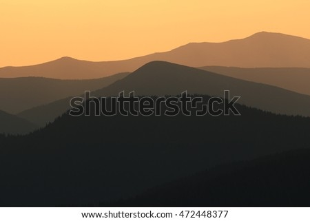 summer landscape, America, USA, national park