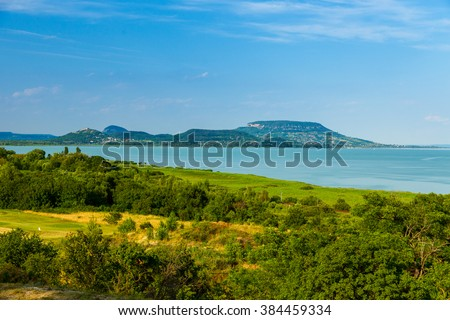 Summer landscape at Lake Balaton, Hungary - stock photo