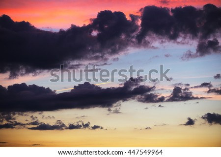 summer landscape beautiful picturesque sky at sunset