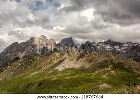 Summer landscape from Dolomites, Italy - stock photo