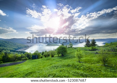 summer landscape in mountain