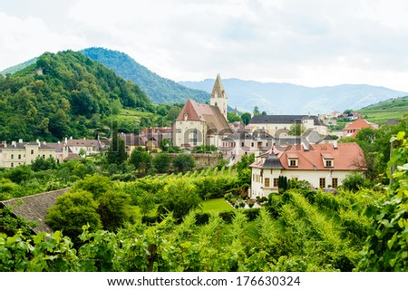 Summer Landscape in Wachau - stock photo