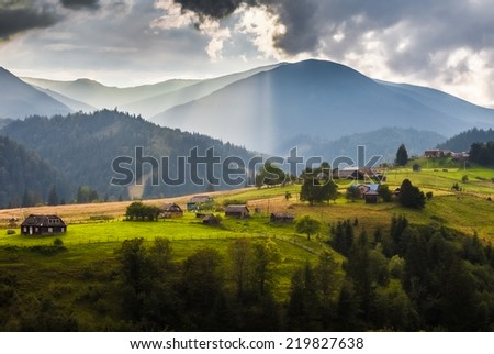 Summer landscape. mountains, Ukraine, landscape. Carpathian, Ukraine - stock photo