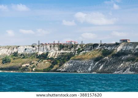 Summer landscape with black Sea coast, Varna region, Bulgaria - stock photo