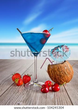 Summer martini drink - stock photo