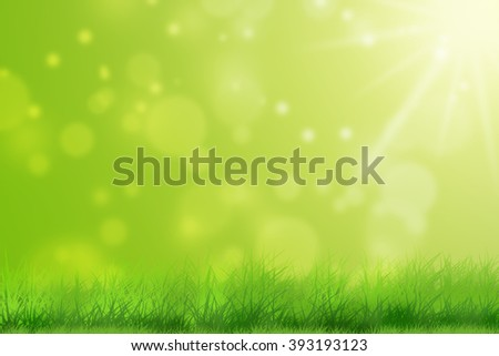 Summer meadow with green grass