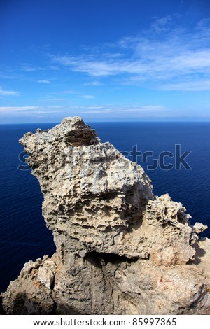 Summer ocean view from and island in the sea. - stock photo