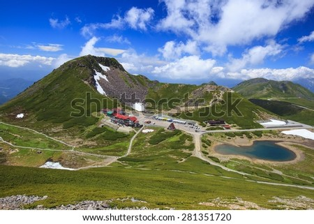 Summer of Mt. Norikura, Nagano, Gifu, Japan - stock photo