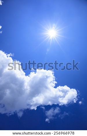 Summer of sun and clouds - stock photo