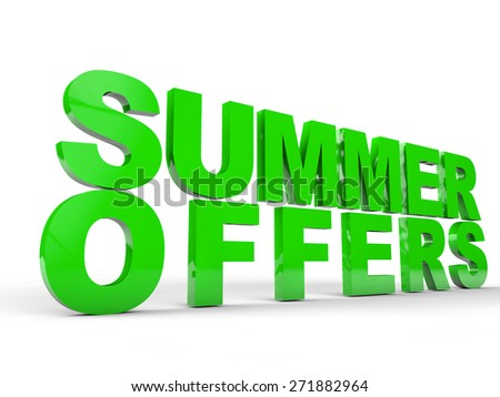Summer  offers over white background - stock photo