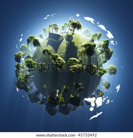 summer on small green planet - stock photo