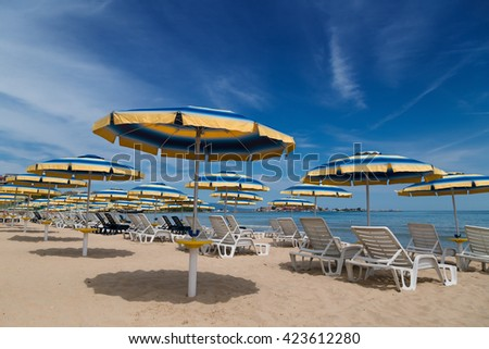 Summer on the bulgarian Black sea coast - stock photo