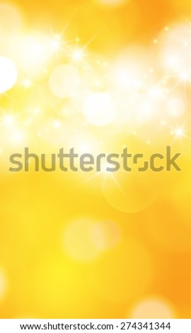 Summer orange background with bokeh and lens flare.