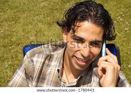 summer portrait - stock photo